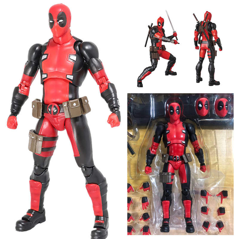 16cm New X-Men Deadpool Mafex 082 Comic Version Action Figure Collectable Model Toy Doll Gift Doll image