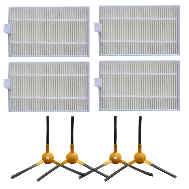Filter+Side Brush Kit For ABIR X6 X5 X8 Robot Vacuum Cleaner Absolute Spare Parts Home Cleaning Appliance Matched With Original