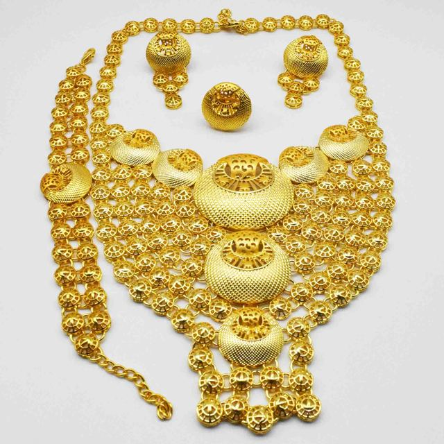 Gold Colour Bridal Jewelry Set