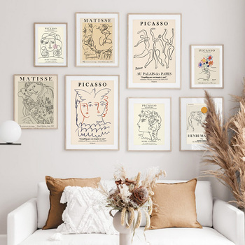 Wall Art Canvas Painting Picasso Matisse Abstract Girl Flower Nordic Posters And Prints Wall Pictures For Living Room Home Decor abstract girl figure leaves flower boho wall art canvas painting nordic posters and prints wall pictures for living room decor