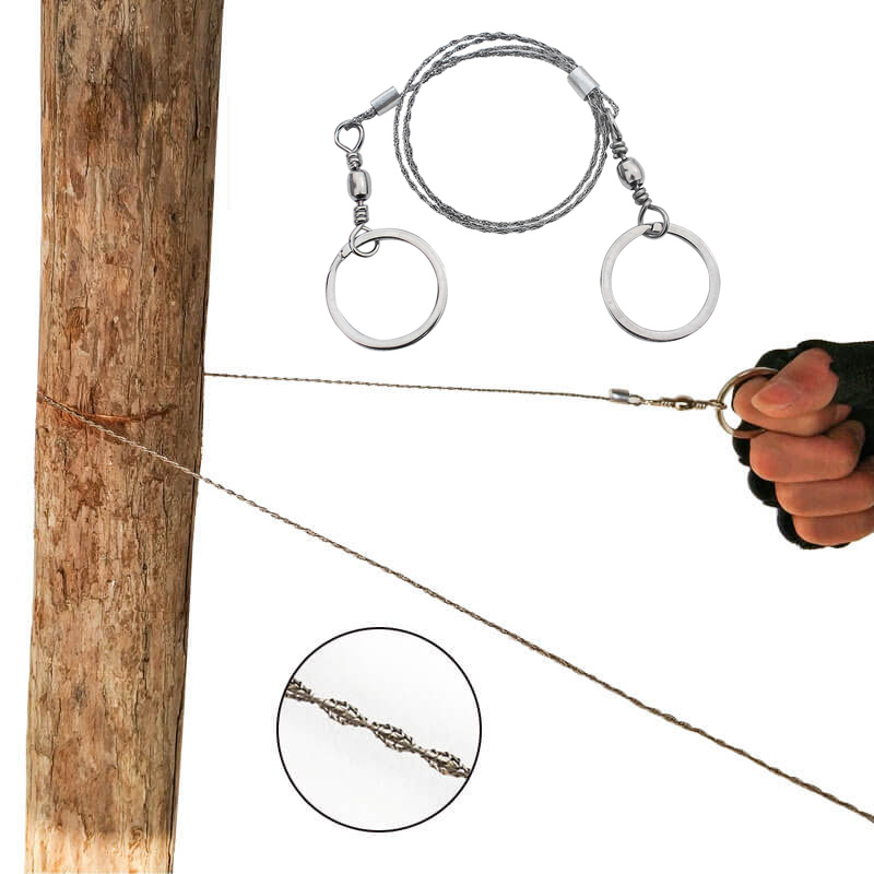 Wire Saw Outdoor Camping Emergency Survival Tool Easy Cut Wood And Pocket Saw For Camping