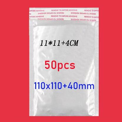 50 pces/ (11*11cm + 4cm) branco bolha envelope saco de filme bolha saco de filme pérola envelope choque saco
