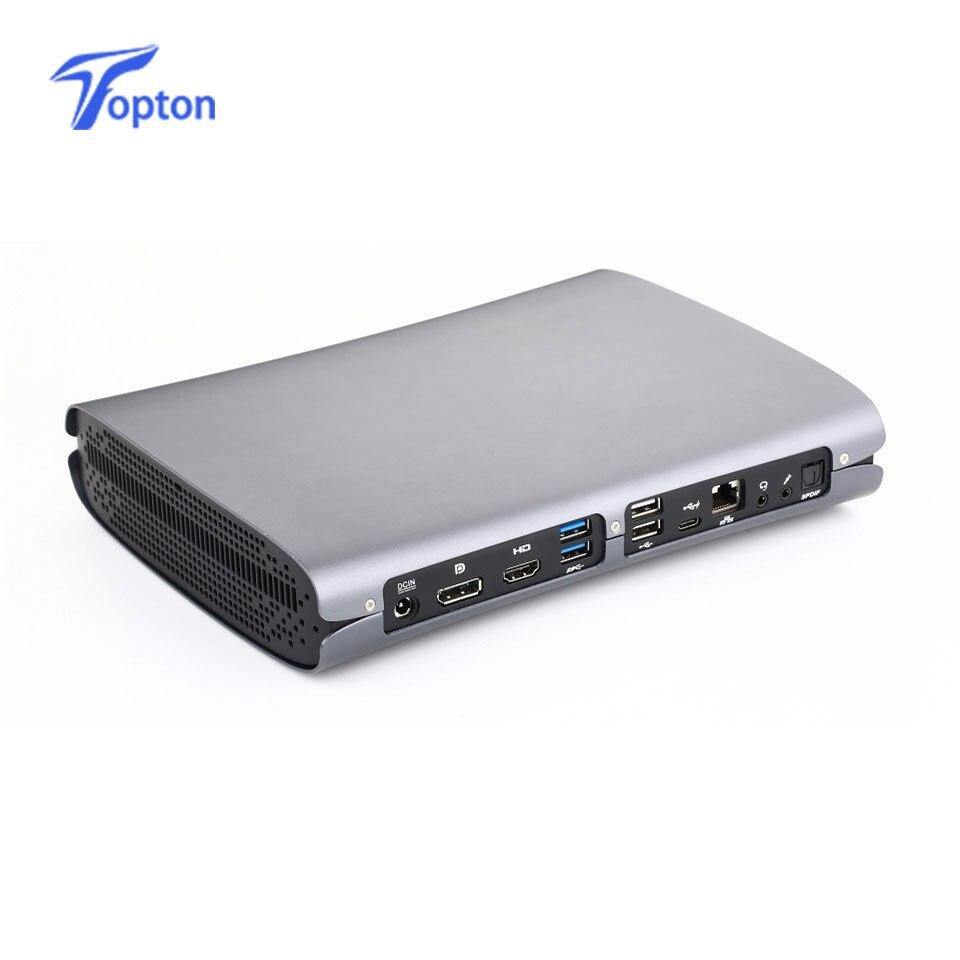 Topton Top Gaming Computer Mini PC Intel Quad Core I7 6700HQ I5 6300HQ GTX 960M GDDR5 4GB Ram HDMI+DP+Type C S/PDIF 5G Wifi