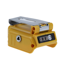 USB Converter Charger for DEWALT with 5A DC Interface 20V Li-Ion Battery Converter with Dual USB and Clip fast battery charger 4 5a dcb118 dcb101 10 8v 12v 14 4v 20v li ion replacement for dewalt dcb205 dcb206 dcb203bt dcb204bt