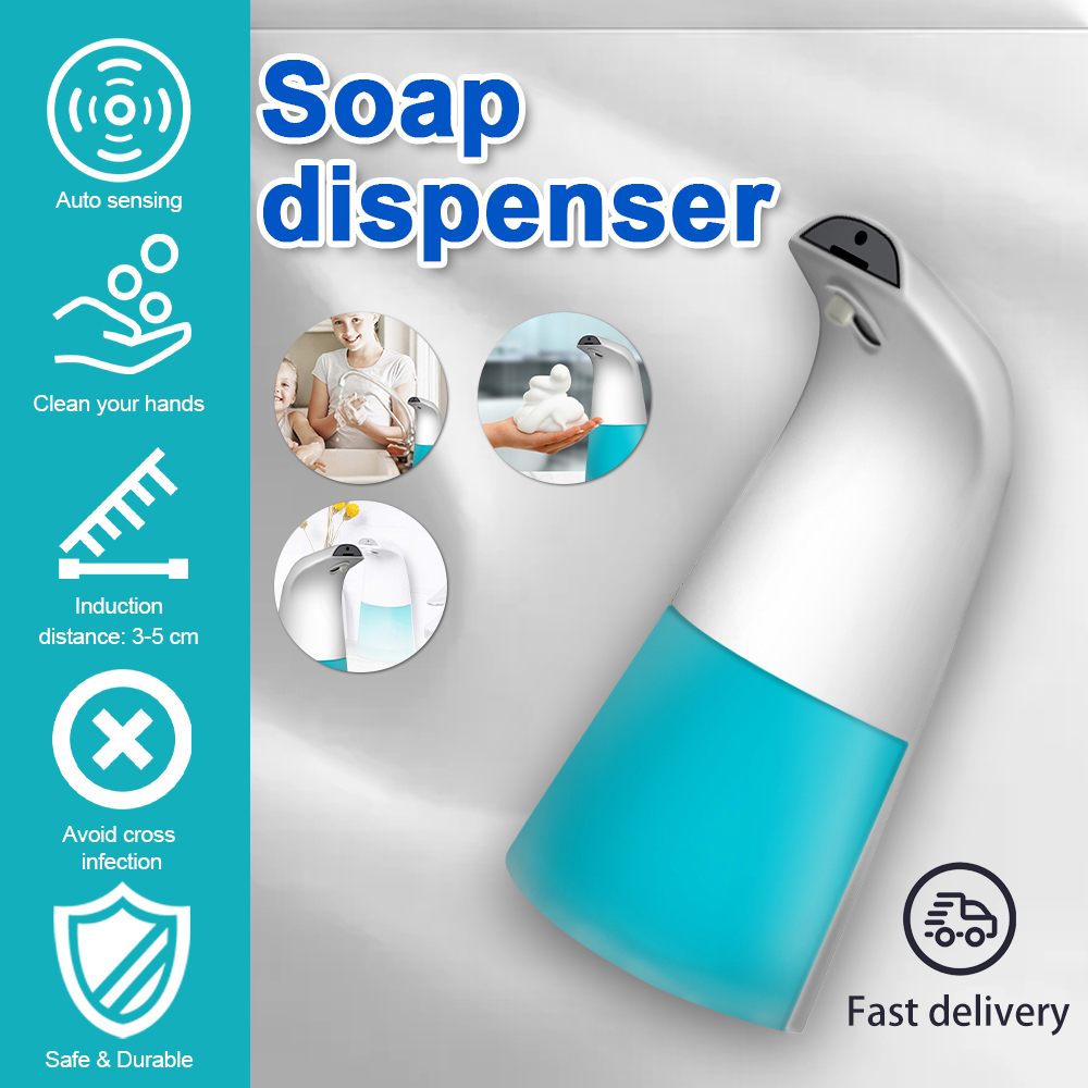 With 0.25s Infrared Motion Touchless Hands Free Soap Pump Liquid Foam Dispenser  Automatic Foaming Soap Dispenser