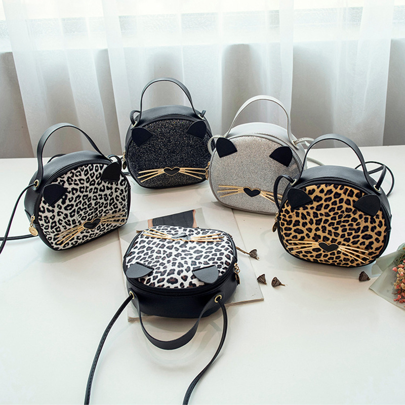 Women Leopard Mini Bag Female Cat Purse Women Handbag   2020 Luxury Cute Small Shoulder Bag Bolsa Feminina KYIDER