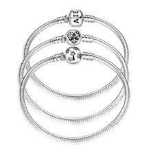 Bracelets ronds en argent sterling 925, chaîne en serpent, pour femme, bijoux à la mode, accessoire, idée cadeau pour la saint Valentin, fête des mères, nouvelle collection