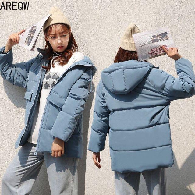 2020 automne hiver coton Parkas surdimensionné manteaux et vestes femmes vêtements d'extérieur à capuche veste bouffante 4