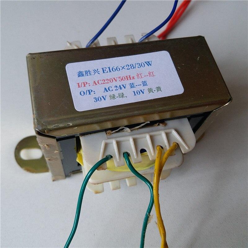 Image 2 - 24V 0.55A 30V 0.3A 10V 0.3A трансформатор 220V EI66 30VA трансформатор фена паяльная станция паяльный элемент 898BD 852D +-in Трансформаторы from Товары для дома
