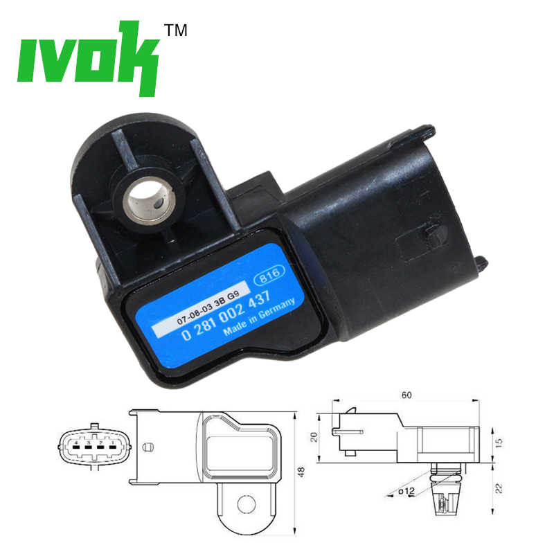 Koop 3 Bar Originele Boost Air Map Sensor Voor Saab 9-3 93 9-5 95 1.9 Tid lancia Ypsilon 1.3 D 93171176