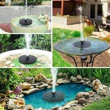 13CM okrągła fontanna solarna ogród pływające do wody basen z fontanną staw dekoracyjny Panel słoneczny zasilany pompą wodną dekoracje ogrodowe