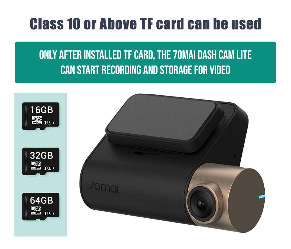 Baru 70mai Dash Cam Lite Versi 1080P 130FOV Malam Visi 24H Monitor Parkir Canggih Sistem Bantuan Mengemudi Perekam