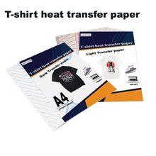 Papier d'impression par Sublimation par transfert thermique à jet d'encre, pour T-Shirt, tissu noir clair, pour vêtement en coton
