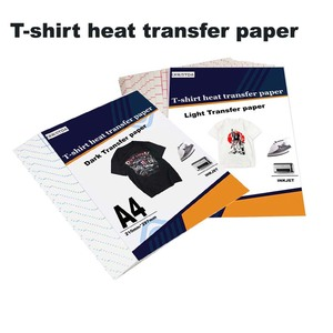 Inkjet Heat Transfer Sublimation Printing Paper T-Shirt Light dark black Fabric Transfer Paper for Cotton Garment Thermal Paper
