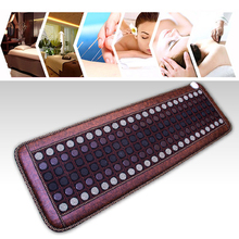 Far Infrared Heating Mat Tourmaline - Negative Ions - Mesh Mat - Adjustable Timer & Temperature - Heating Pad - Hot Stones Jade 2018 best selling products infrared heating mat tourmaline health products full body heat sleep mat with free gift eye cover