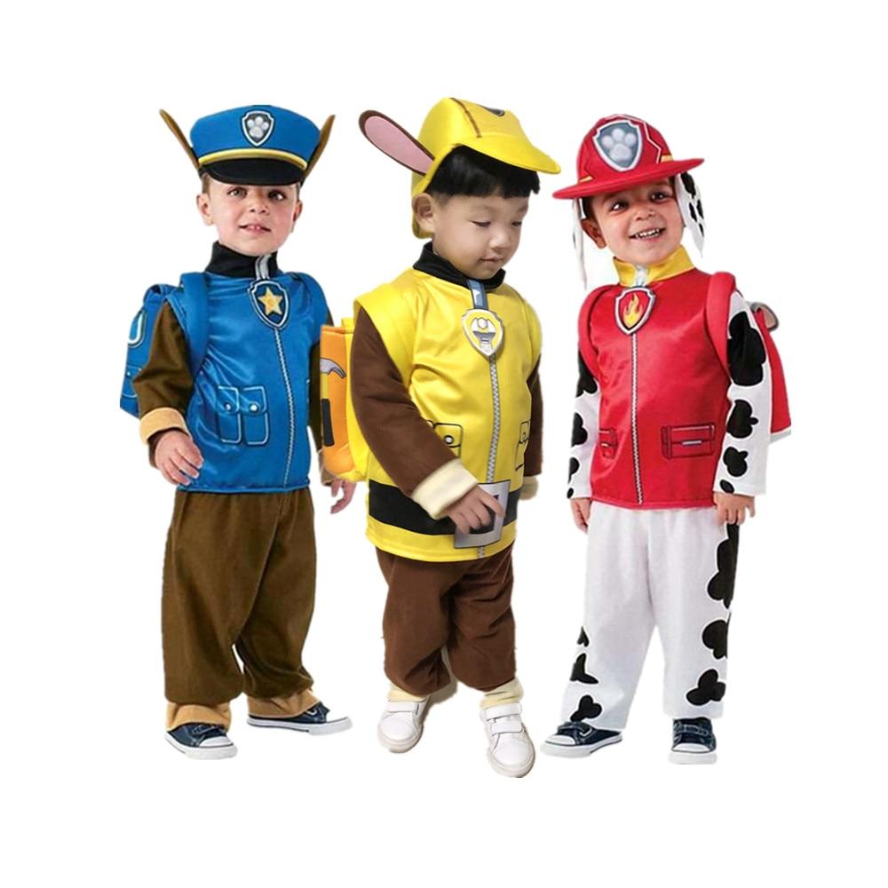Карнавальный праздничный костюм на день рождения Косплэй с рисунком Крепыша, Скай, Маршалл и Чейз кoстюм пaрки для мaльчикoв и дeвoчeк детское ...