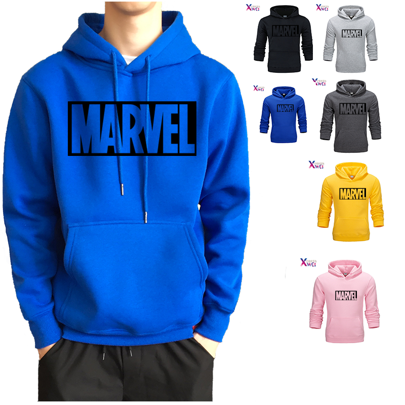 Xwei New 2020 Autumn Brand Sweatshirts Men High Quality MARVEL Letter Printing Fashion Mens Hoodies Sports Casual Hoodie Hip Hop