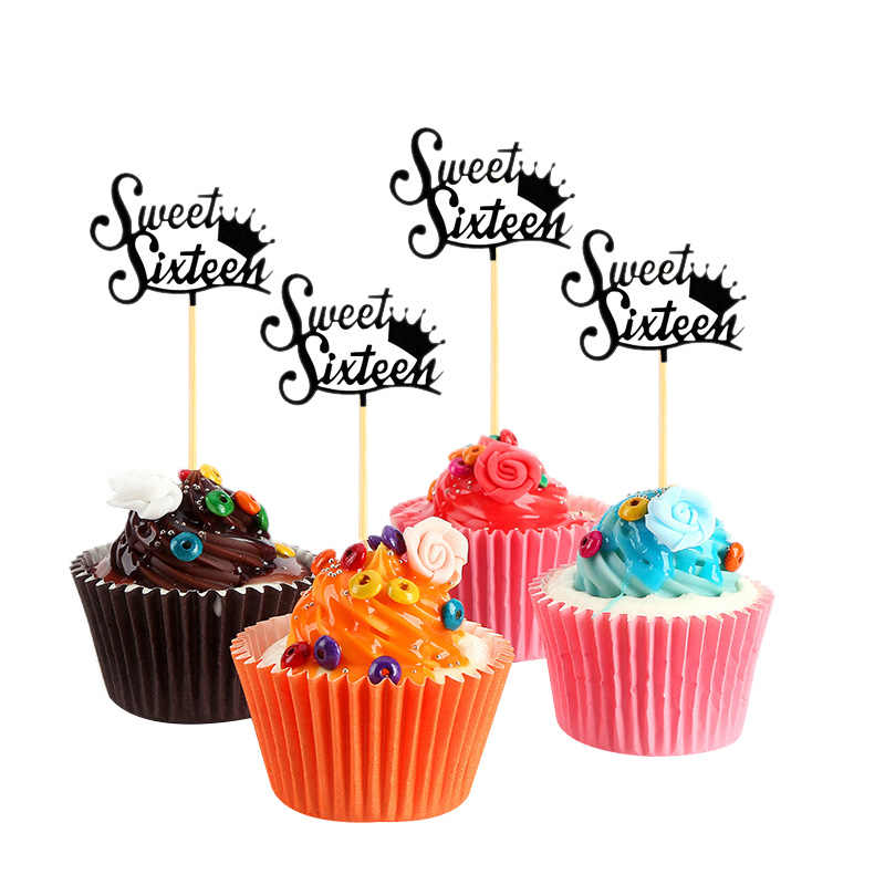 JHD-24Pcs doce cupcake toppers bolo de aniversário toppers sobremesa bolos de mesa decoração natal festa suprimentos