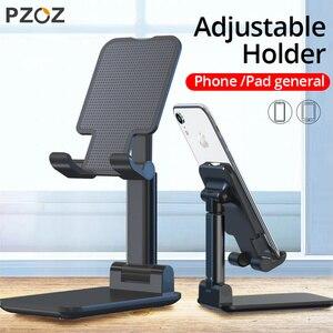 Image 1 - Pzoz Schaalbare Telefoon Houder Voor Iphone 11 Pro X Xs Max Se Ipad Xiaomi Redmi Note 9 S 8 Stand tablet Desk Houder Stands Universele