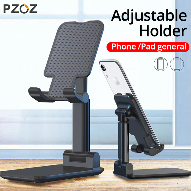 Pzoz Schaalbare Telefoon Houder Voor Iphone 11 Pro X Xs Max Se Ipad Xiaomi Redmi Note 9 S 8 Stand tablet Desk Houder Stands Universele