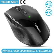 TeckNet Bluetooth 무선 마우스 인체 공학적 2.4GHz 컴퓨터 마우스 Windows 노트북 PC 용 3000/2000/1600/1200/800 DPI