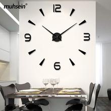 Muhsein 2020 nowoczesny zegar ścienny 3D numer duży rozmiar wyciszenie zegara kwarcowy zegar dekoracyjny do domu DIY ściana naklejki zegar darmowa wysyłka tanie tanio CN (pochodzenie) Krótkie circular Akrylowe 120cm Pojedyncze twarzy 1200mm 300g QUARTZ Zegary ścienne 9mm blachy Streszczenie