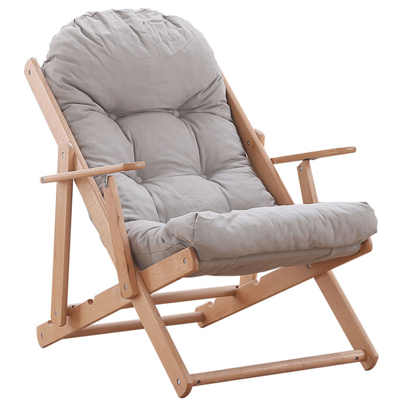 Recliner Rocking Chair Lazy Couch Balcony Leisure Chair Nordic Siesta Chair Modern Home Folding Elderly Chair