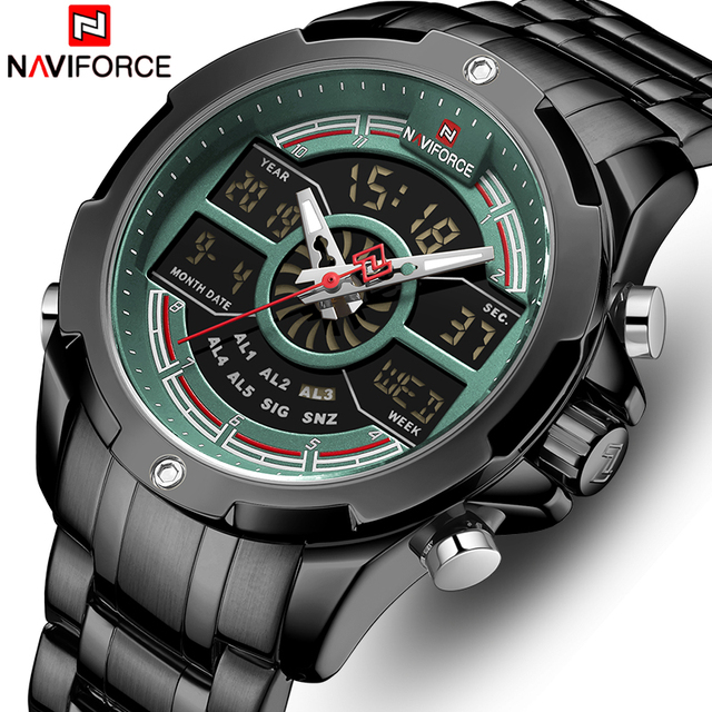 NAVIFORCE Men Watch with Box Waterproof Business Quartz Watches Set for Sale Men's Military Sports Male Clock Date Relogio