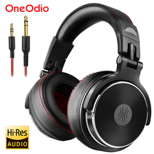 Oneodio studio pro dj fone de ouvido sobre a orelha 50mm drivers de alta fidelidade com fio monitor profissional fones de ouvido dj com microfone para o telefone