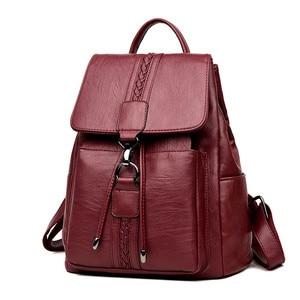 Image 2 - Bagpack Luxury Women Backpack Genuine Leather Backpacks for Teenage Girls Female School Shoulder Bags For Women 2019 Mochila Sac