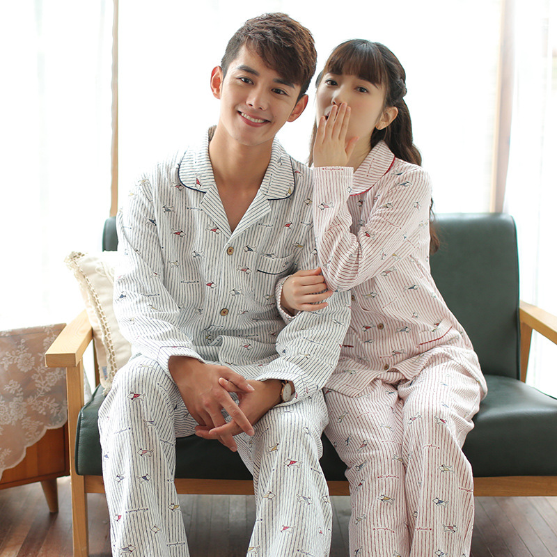 Autumn And Winter Couples Pajamas Sets Long Sleeve Couples Pajamas Sets New Style Couples Pajamas Sets Comfortable Couples Pajam фото