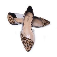 GENSHUO seksi bale daireler kadın şeffaf düz ayakkabı bayanlar sivri burun ayakkabı bale düz kadın ayakkabı temizle kesim bot ayakkabı