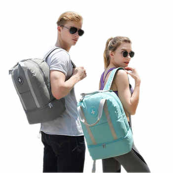 Dry and Wet Separation Fitness Backpack Waterproof Travel Backpack Large Capacity Sports Gymbag School Backpack For Teenage Girl - DISCOUNT ITEM  35 OFF Luggage & Bags