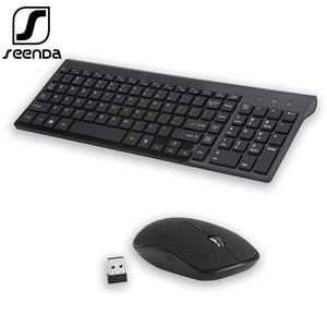 Image 1 - SeenDa Low Noise Wireless Keyboard and Mouse Combo Ultra Thin Wireless Keyboard Mouse for Laptop Notebook Computer Smart TV