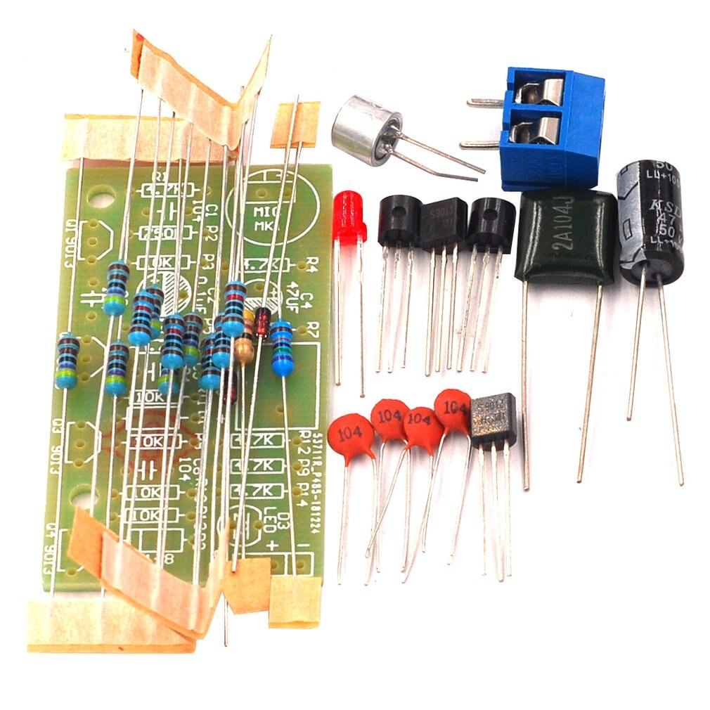 Stimme-Gesteuert Klatschen Schalter Kit Streuen Elektronische Diy Spaß Produktion Kit Elektronische Praxis Kit