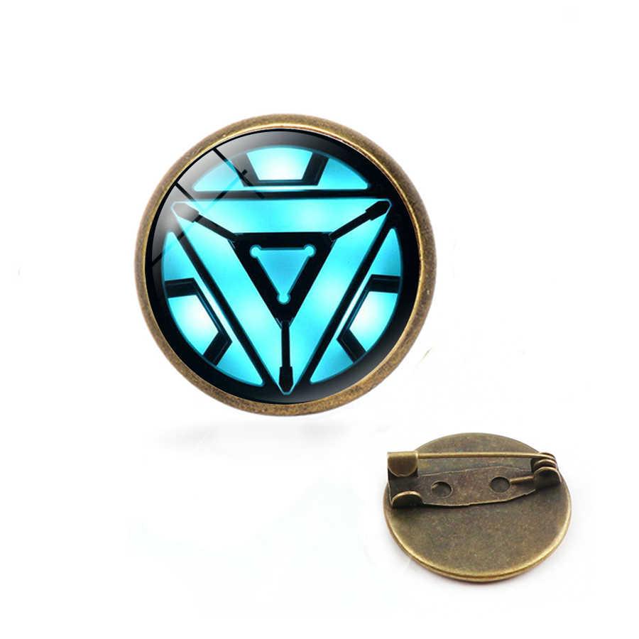 The Avengers 4 Saya CINTA ANDA 3000 Kali Bros Iron Man Tony Stark Kerah Pin Anda Tiga Ribuan kali Marvel Perhiasan