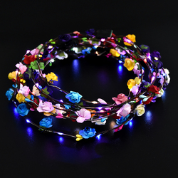 2019 Party Glowing Crown Flower Headband Girls LED Lights Up Wreath Headband New Headpiece Wedding Hair Accessories Gifts