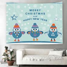 Гобелен в виде пингвина с 3d принтом рождественский подарок