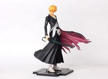 Японское аниме отбеливатель Kurosaki Ichigo фигурка из ПВХ Игрушечная модель статуя 22 см Новая с коробкой