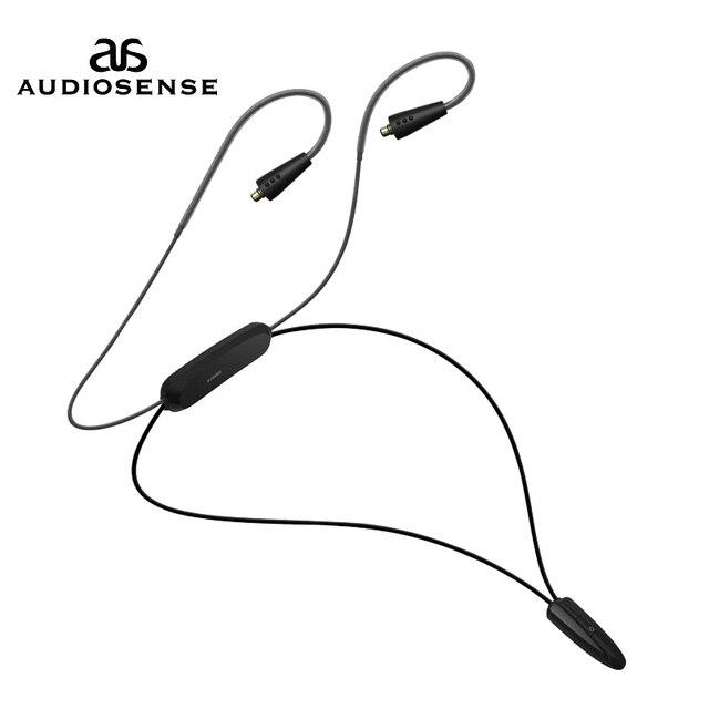 AUDIOSNESE BT20,Bluetooth אוזניות כבל, אלחוטי אוזניות Bluetooth 5.0 כבל תמיכה APTX LL AAC LC 12 שעות לשחק mmcx שקע