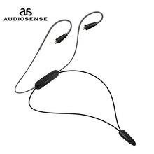 Audiosnese bt20, cabo de fone de ouvido bluetooth, fones de ouvido sem fio bluetooth 5.0 cabo de apoio aptx ll AAC LC 12 horas jogar mmcx jack