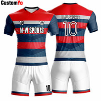 M W Sports Accept Small Quantity OEM Sportswear Top Quality Full Sublimation Print Football Kits Maker Soccer Jersey