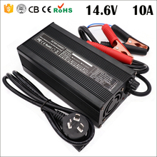 14.6V 10A 20A Charger 14.6V LiFepo4 Battery Charger for 4S 12.8V 14.4V LiFepo4 Battery Charger Smart Charger with Crocodile Clip
