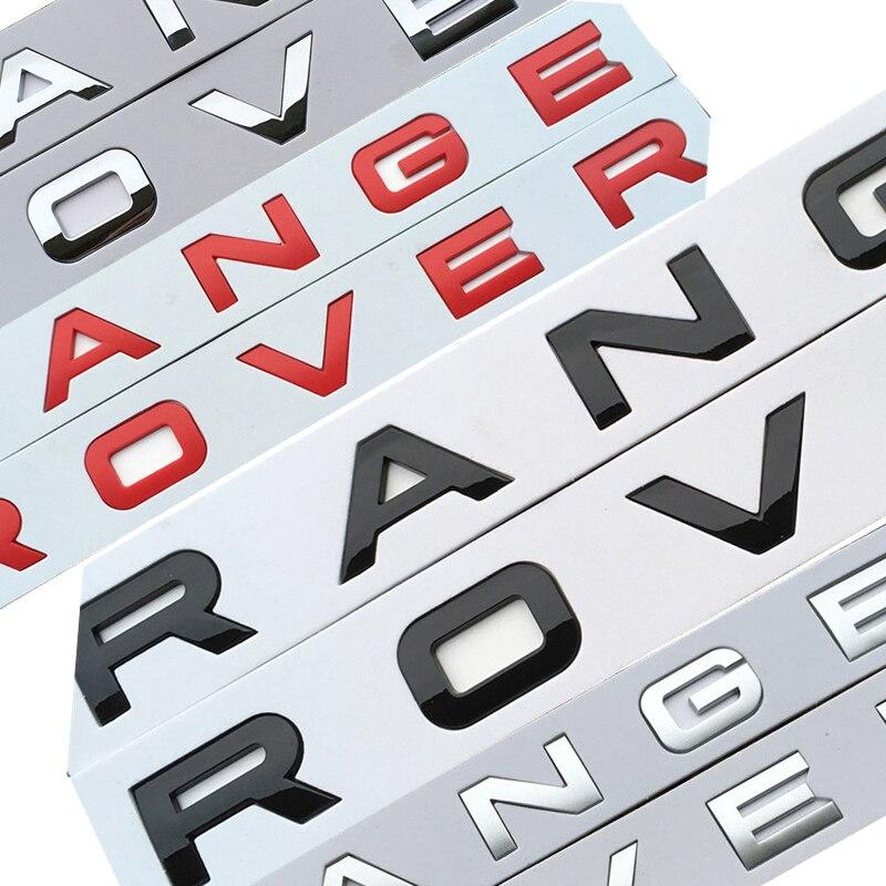 سيارة التصميم هود جذع شارات لوجو ملصق ل رينج روفر سبورت إيفوك ديسكفري ABS سيارة التصميم الجذع شعار رسائل شعار