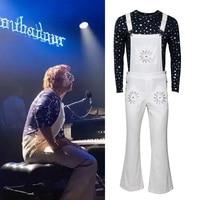 Rocketman Cosplay Elton John Costume Halloween Adult Suit Carnival Bib Pants