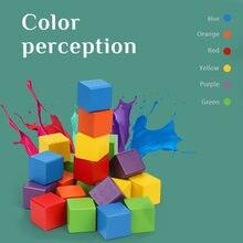 Деревянные детские игрушки для детей Монтессори Дженга цветные