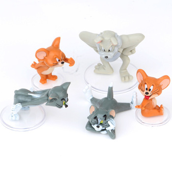 New Arrival 5Pcs/Set Cartoon Tom & Jerry Cat and Mouse Mini PVC Action Figures Toy Model Doll Decoration For Kids Gift Free Ship цена 2017