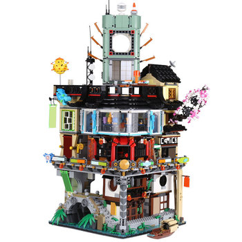 Newest Building Blocks NINJAGOed City with 70620 with light in stock bricks toys for boys girls gifts 2