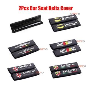 2x autostoel riemen padding covers voor Peugeot Mitsubishi Honda opel Paraplu ralliart abarth mugen power Batman Renault