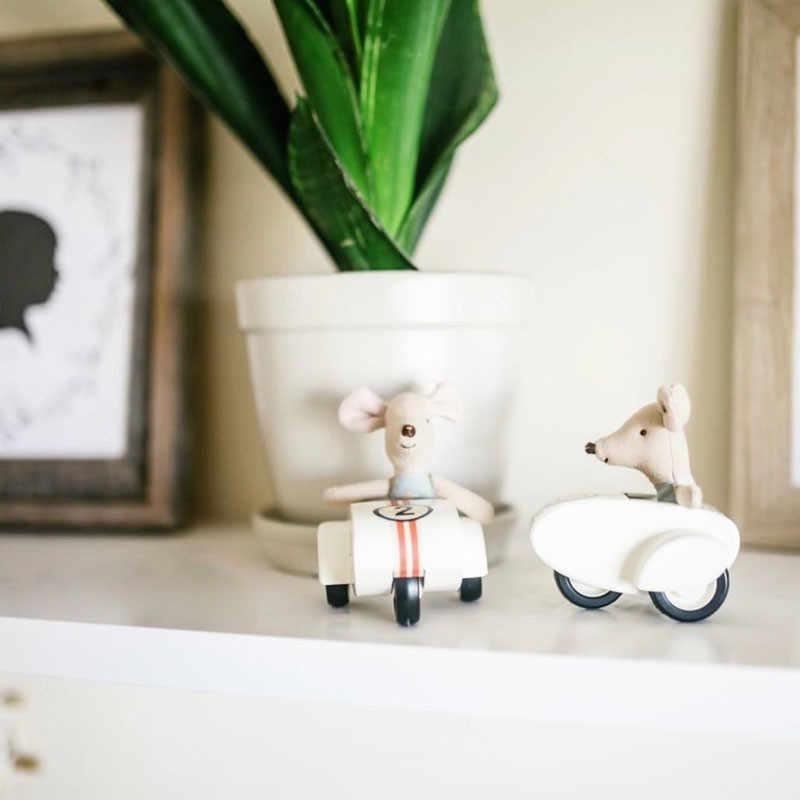 Búp Bê Mini Đồ Gỗ Đồ Chơi Siêu Mát Sắt Song Song Xe Máy Vải Lanh Cotton Xoa Dịu Dễ Thương Chuột LOL Búp Bê Bjd Phụ Kiện Nhà